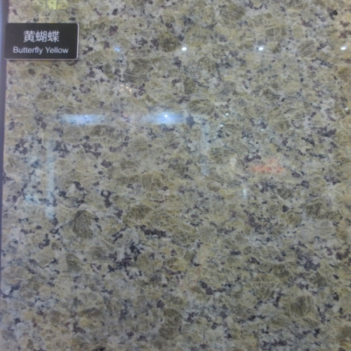 Butterfly Yellow Granite Tiles Slabs Countertops