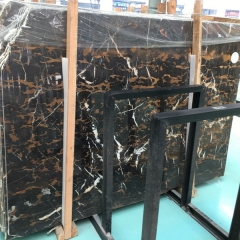 Black and Golden Flower Marble Flooring Wall Tiles and Slabs
