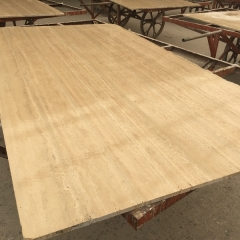 Crema Travertine Marble Flooring Wall Tiles and Slabs