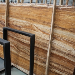 French Golden Travertine Marble Flooring Wall Tiles and Slabs