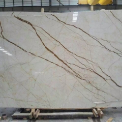 Cream Block Marble Flooring Wall Tiles and Slabs