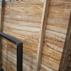 Golden Travertine Marble Flooring Wall Tiles and Slabs