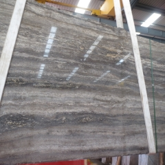 Silver Grey Travertine Marble Flooring Wall Tiles and Slabs