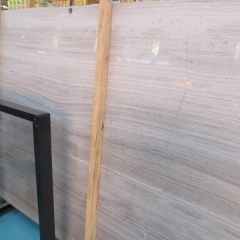 White Wood Grain Marble Flooring Wall Tiles and Slabs