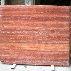 Red Travertine Marble Flooring Wall Tiles and Slabs