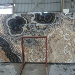 Translucent Black Dragon Onyx Marble Slabs Countertops Table Top Tiles