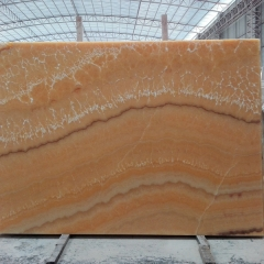 Translucent Orange Onyx Marble Slabs Countertops Table Top Tiles