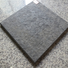 Black Leather Granite Slabs and Tiles