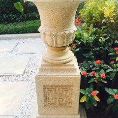 Large Granite Stone Garden Flower Pots