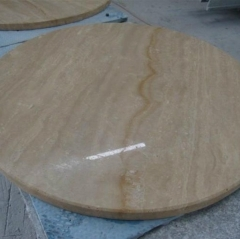 Round Travertine Stone Table Top